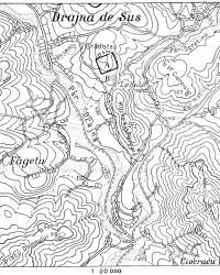 Localizare Castru - Harta 1940